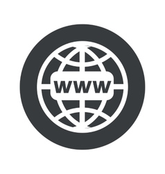 Monochrome round global network icon vector