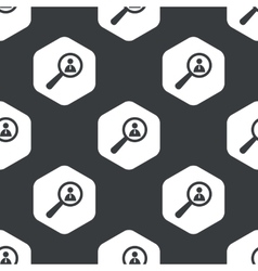 Black hexagon user details pattern vector