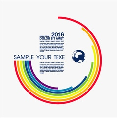 Info graphic text design color vector