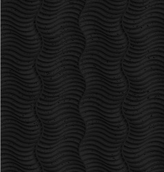 Textured black plastic striped vertical waves vector