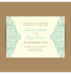 Wedding card vintage elem vector