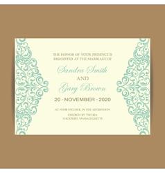 wedding card vintage elem vector image