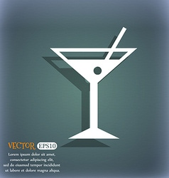 Cocktail martini alcohol drink icon on the vector
