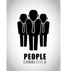 People and social network design vector