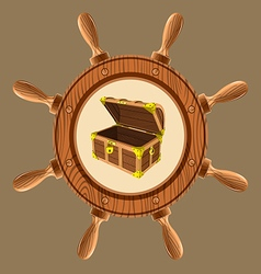 Icon pirate chest vector