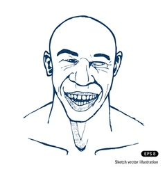 Smiling man vector
