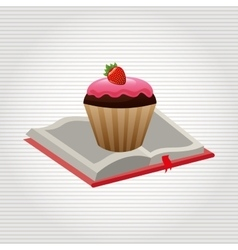 Cupcake recipe design vector