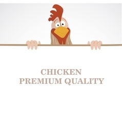 Cartoon funny rooster vector
