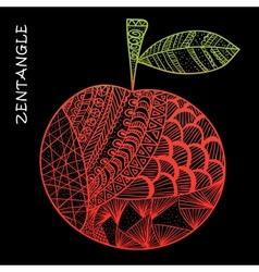 Apple hand drawn zentangle vector image vector image
