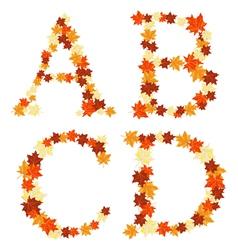 autumn letter vector image