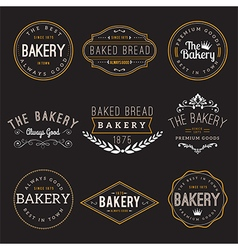 Bakery Badge Design Elements vector image vector image