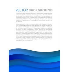 Blue waves paper sheets vector