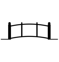 bridge the black color icon vector image