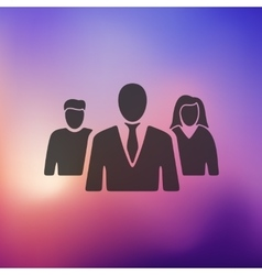 Business people icon on blurred background vector
