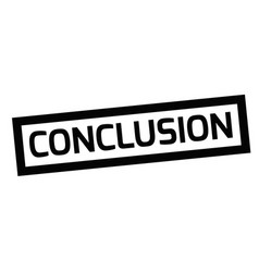 Conclusion typographic stamp vector