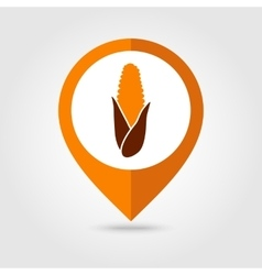 Corn mapping pin icon harvest thanksgiving vector