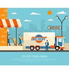 Delivery trucks vector