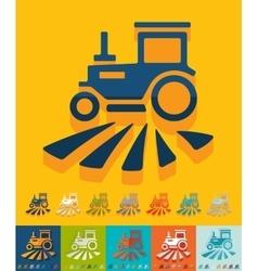 Flat design tractor vector