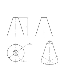 Frustum vector image