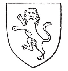 Gardant lion are early as the 12th century vector