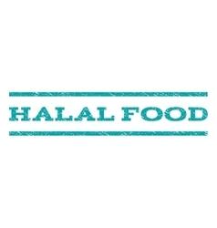 Halal food watermark stamp vector