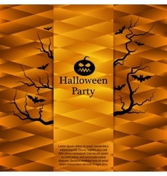 Halloween party poster Abstract background vector image vector image