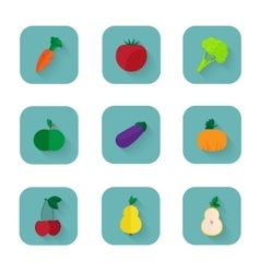 Modern flat icons a healthy lifestyle proper vector image vector image