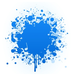 paint stain vector image