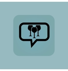 Pale blue wine glass message vector image