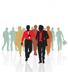 sales team of young people vector image