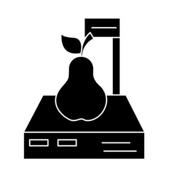 scales shop - pear icon vector image
