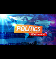 screensaver for news policy vector image