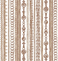 Seamless doodles ethnic pattern vector image