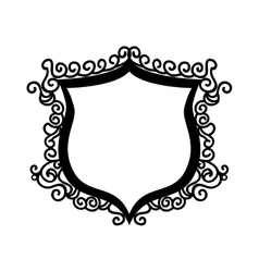 Shield ornament badge vector