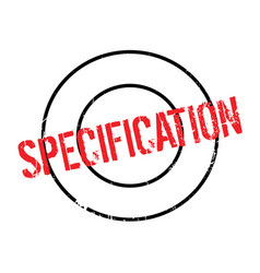 Specification rubber stamp vector