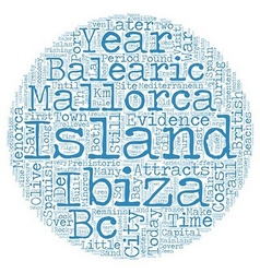The balearic islands text background wordcloud vector