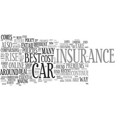 The cost of car insurance is set to rise again vector