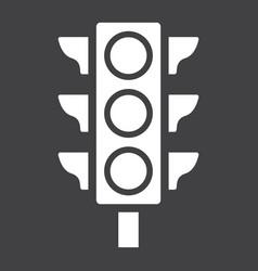 Traffic light glyph icon stoplight and navigation vector