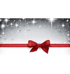 Winter starry christmas banner vector