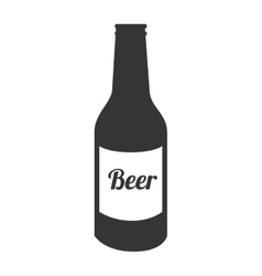Icon bottle beer drink liquid isolated vector