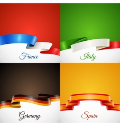Flag Design Ribbon Concept Icons Set vector image