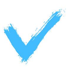 check mark sign ink sketch vector image