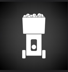 Tennis serve ball machine icon vector
