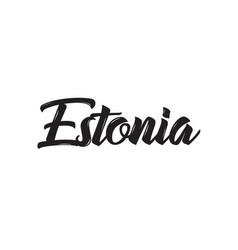 Estonia text design calligraphy vector