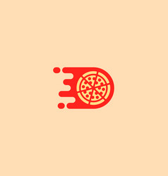 Pizza logotype pizzeria logo design vector