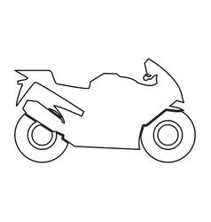 Motorcycle black color path icon vector