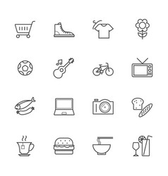 Products line icons vector