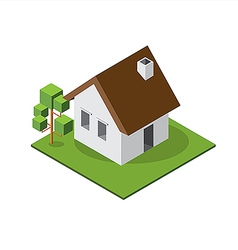 Isometric small house 380 vector