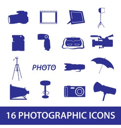 Photographic icon set eps10 vector