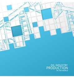 Oil pump mosaic card vector image